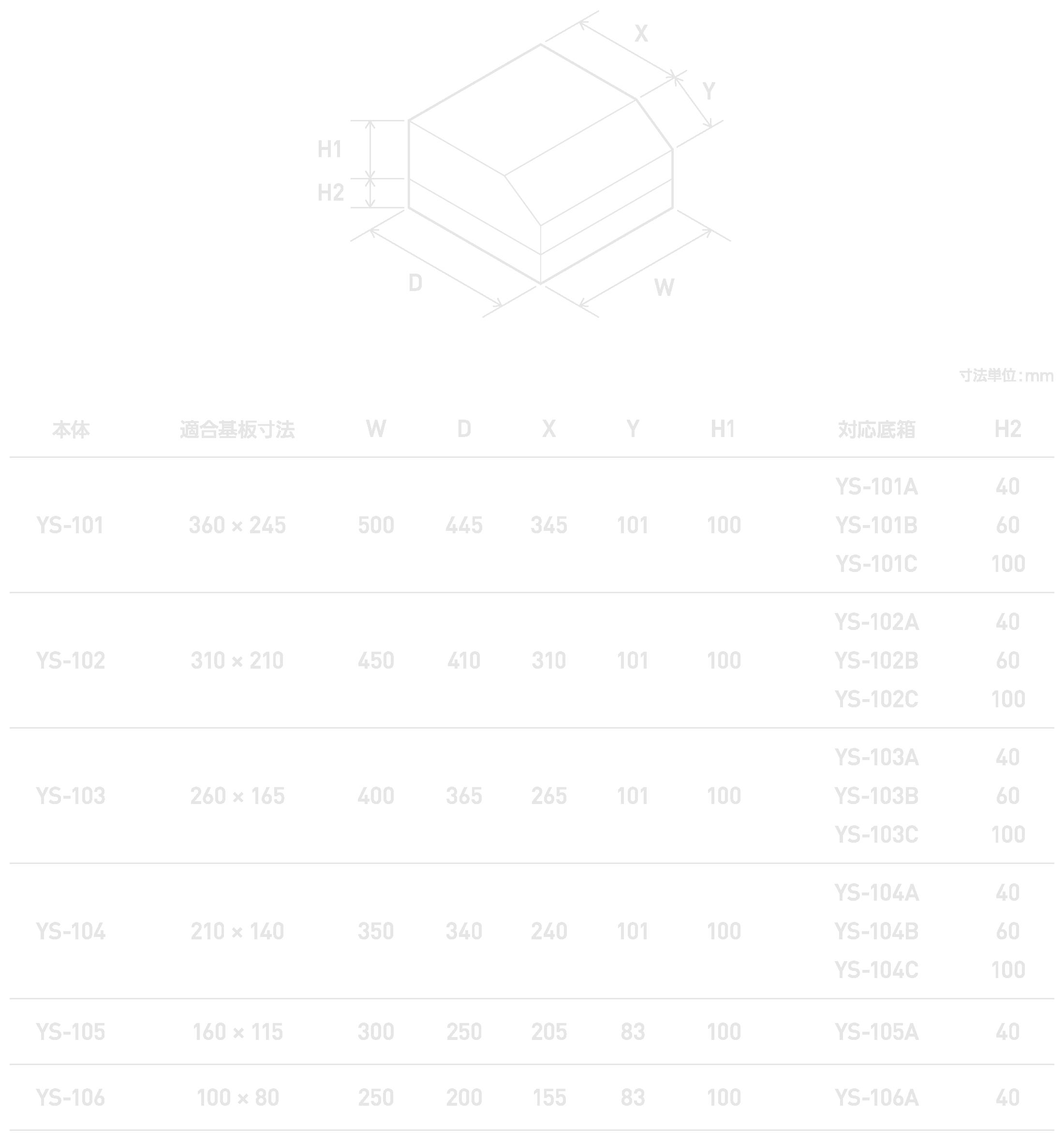 ys100-dimensions